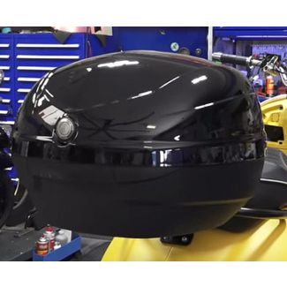 Black 33 Liter Piaggio/Vespa Topcase - Universal Fit (Fly 50/150 2-Valve)