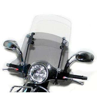 Adjustable Midsize Faco Twin Windscreen for Vespa Primavera 150