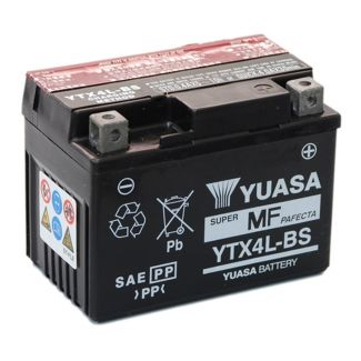 YUASA YTX4L-BS BATTERY 12 VOLT 3 AMP SEALED (234390 294816 497408) (P5583000000)