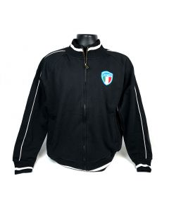 Vespa Motorsport Zip Up Sweater with Embroidered Italian Shield
