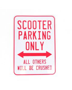 """""""Scooter Parking Only"""" Small Metal Sign 8.2"""" x 11.6"""""""
