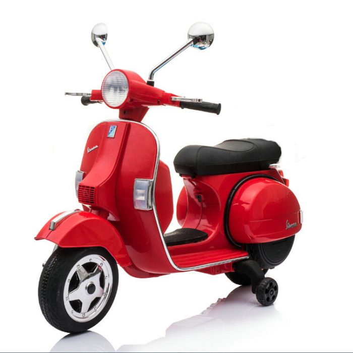 Vespa Ride On Px Kids Scooter In Red Officially Licensed By Piaggio Special Order